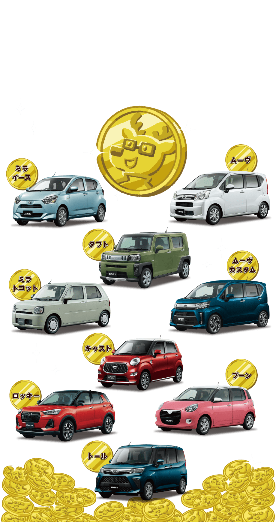 タント タントカスタム ロッキーの新車をご成約のお客様に10万円分の用品プレゼント